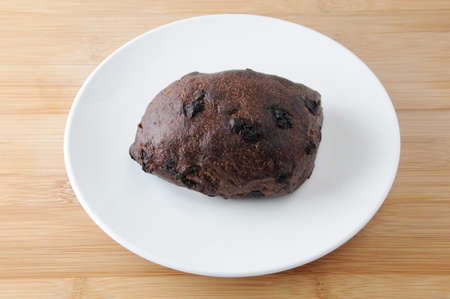 chocolate chip bread on plate on table