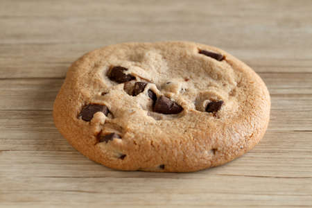 chocolate chip cookie isolated on table