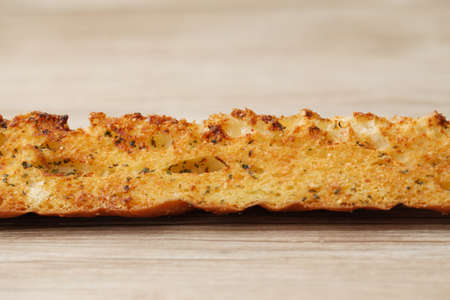 garlic french bread isolated on table