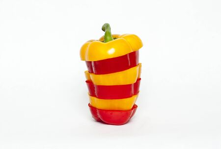 bell pepper cut stacked