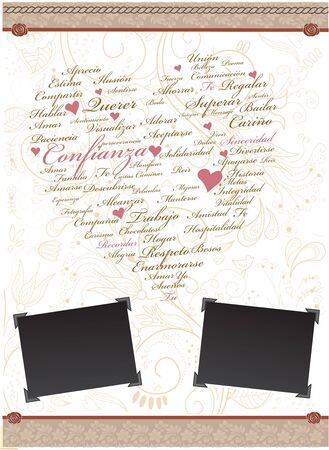 hearts and hand writing elements