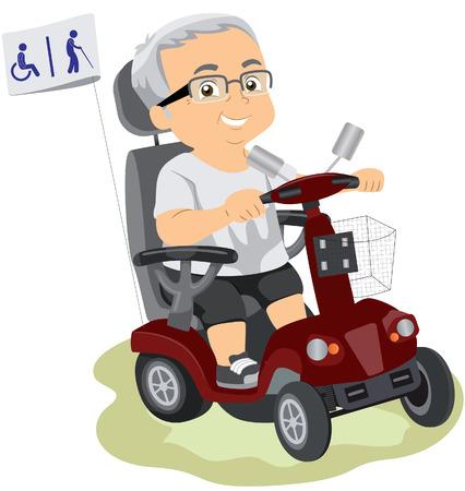 old tractor: gehandicapten scooter