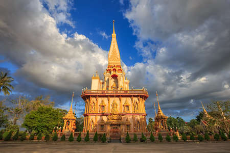 Wat Chalong  Temple Phuket Thailand. Editorial