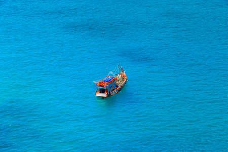 trawler net: Fishing boat trawler on Andaman sea.`