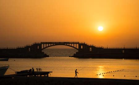 alexandria egypt: Sunset in Montaza , Alexandria , Egypt