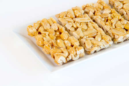 Peanuts Sweets ( Mawlid Halawa ) - Egyptian Culture Dessert usually Eaten During Prophet Muhammad Birth Celebration Standard-Bild