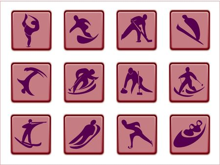 crosscountry: sports competition pictograms