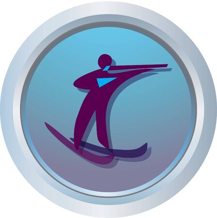are combined: biathlon logo