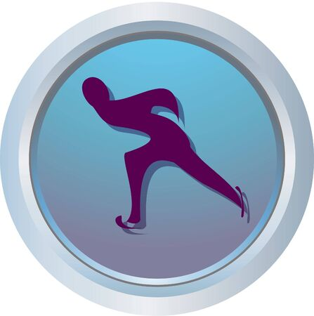 speed skating logo Stock Photo - 318453