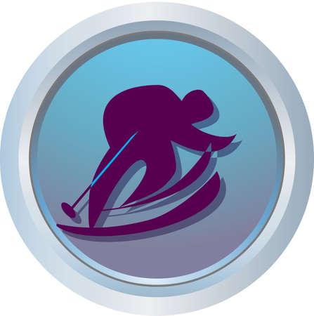 skiing logo Stock Photo - 318451