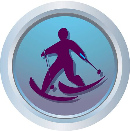 cross skiing photo