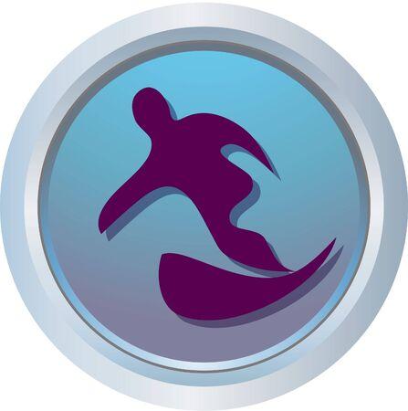 bobsleigh: snowboarding logo Stock Photo