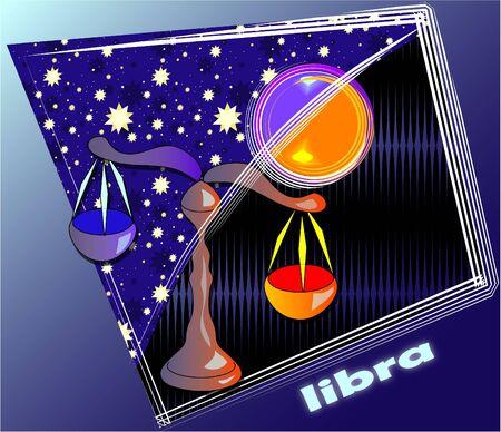 constellations: Carte postale - Libra