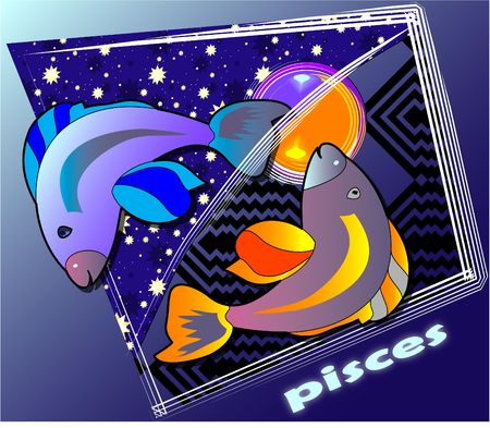 post card - pisces Stock Photo - 337350