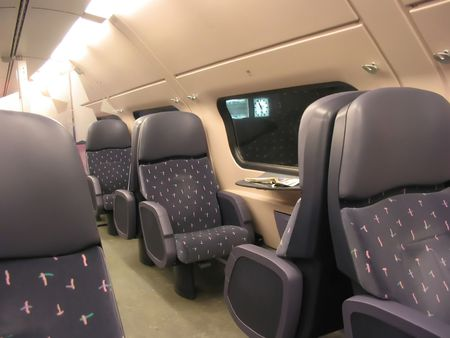 parallels: train salon Stock Photo