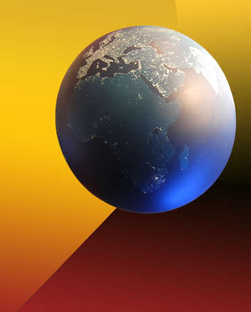 world ball and electricity map Stock Photo - 424508