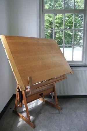 wooden antique desk photo