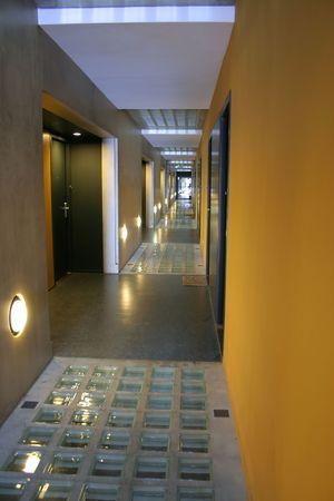 akademik: dormitory korytarz Zdjęcie Seryjne