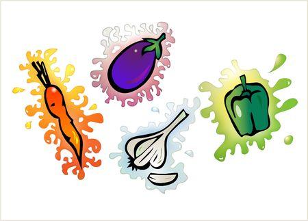 sap: vegetable clip-art Stock Photo