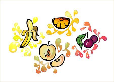 market gardening: fruit clip-art Stock Photo