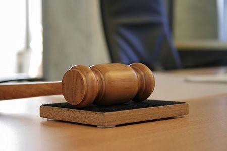 juge marteau: marteau de juge Banque d'images