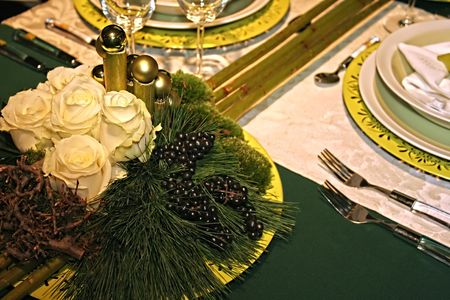 christmas table Stock Photo - 609235