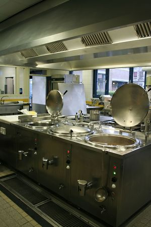 busy restaurant: hospital kitchen