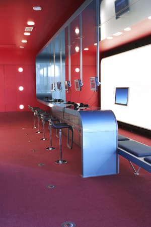 dise�o de interiores en internet-caf�  Foto de archivo - 855796