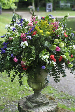 flowers in classic stone vase Stock Photo - 970486
