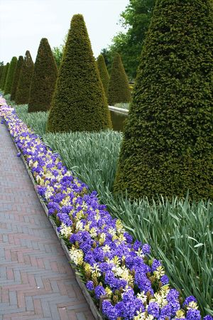 decorative park design in park by spring photo