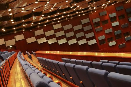 panelling: space in theater or conference hall Stock Photo