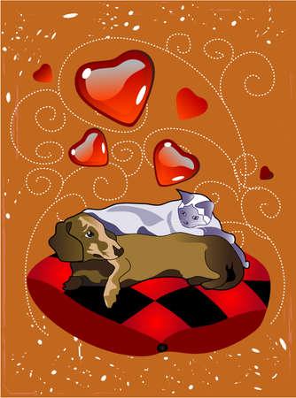 pet love Stock Vector - 1629842