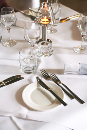 restaurant interior with served table Stock Photo - 1675488
