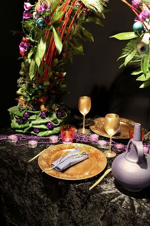 golden elements for party table Stock Photo - 2085998