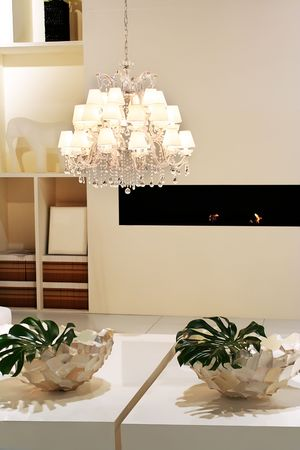 white interior in classic style with luxury lamp Stock Photo - 2668023