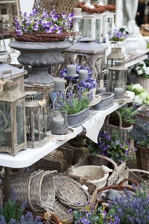 spring village shop with lavender photo