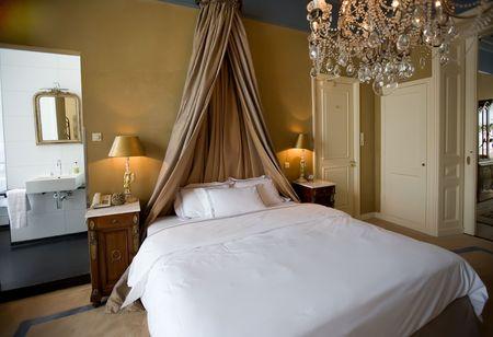 hotel bedroom in classic style interior Stock Photo - 3182443