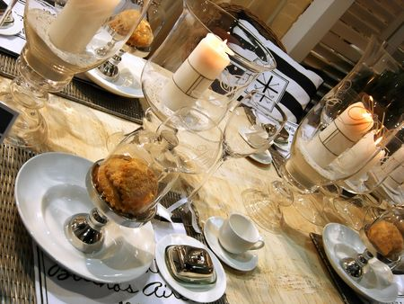 decoration for dinner table in country style Stock Photo - 3395235
