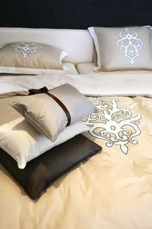 luxury bed: background with bed textile