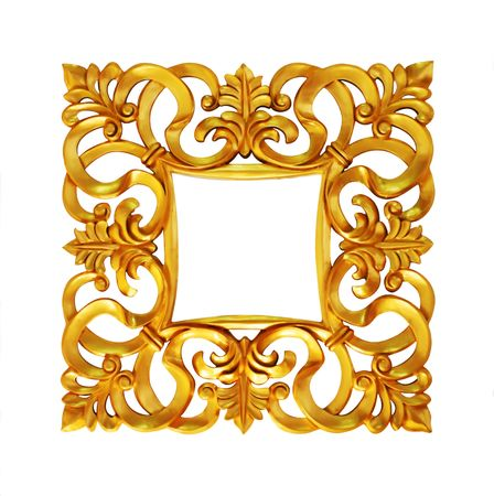 golden frame in exclusive designed form Stock Photo