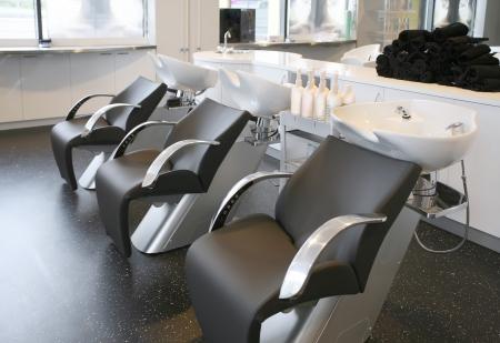 interior of new beauty salon photo