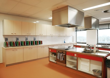 industrial kitchen in special college for education Stock Photo - 3967324