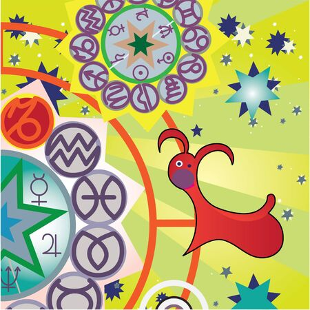 capricorn - grouond zodiac sign Stock Photo - 4574192