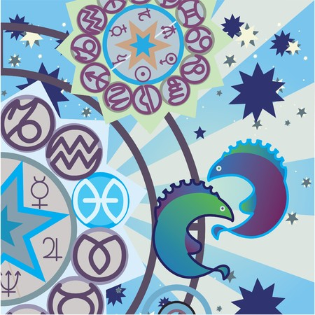 pieces - water zodiac sign Stock Photo - 4574189