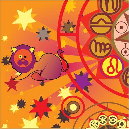 leo - fire zodiac sign Stock Photo - 4574186