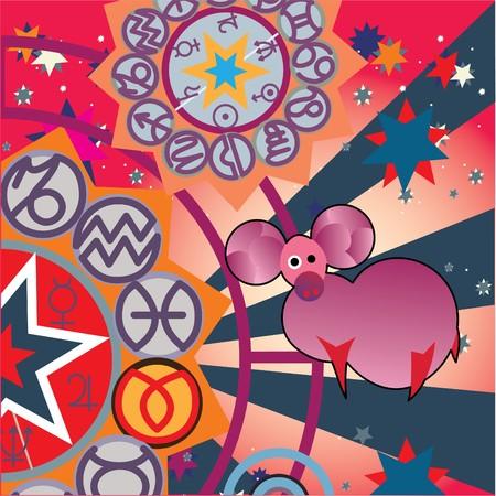 tell: aries - fire zodiac sign Stock Photo