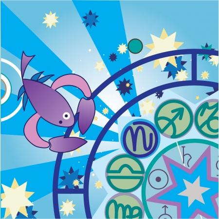 scorpio - water zodiac sign Stock Photo - 4574185