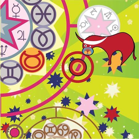 future twin: taurus - ground  zodiac sign Stock Photo
