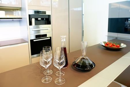 wine glasses in kitchen Stock Photo - 5045798