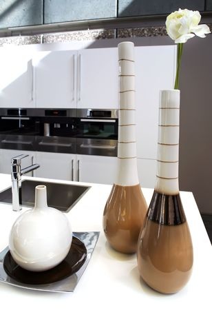 vases in kitchen Stock Photo - 5045801